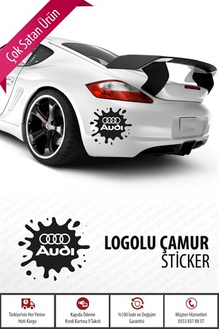 Audi Çamur Sticker