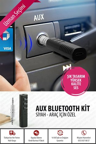 Aux Bluetooth Kit Siyah