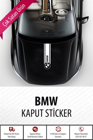 Bmw Kaput Sticker Beyaz
