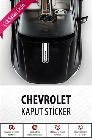 Chevrolet Kaput Sticker Beyaz
