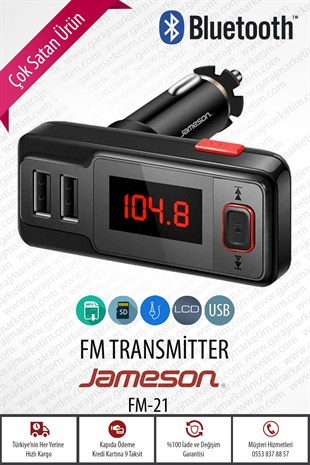 Jameson Bluetooth Fm Transmıtter